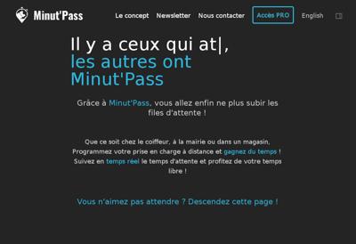 Capture d'écran du site de Wexup