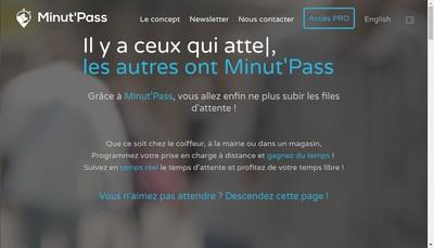 Site internet de Minut'Pass