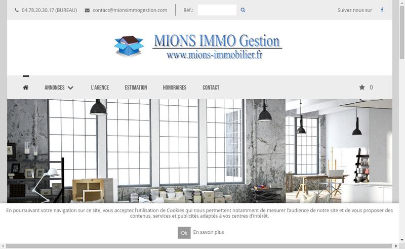 Capture d'écran du site de Mions Immo Gestion