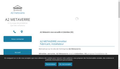 Capture d'écran du site de A2 Metaverre