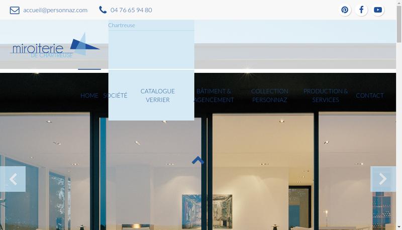 Capture d'écran du site de Miroiterie de Chartreuse