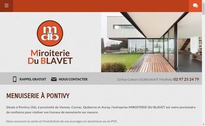 Site internet de Miroiterie du Blavet