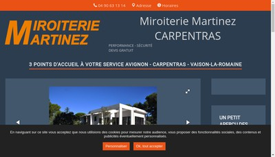 Site internet de Miroiterie Martinez