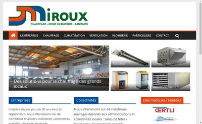 Site internet de Entreprise Miroux