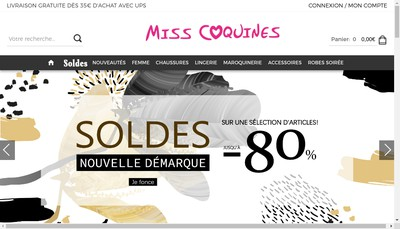 Site internet de Miss Coquines