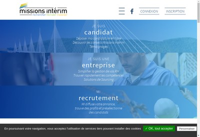 Site internet de Missions Interim