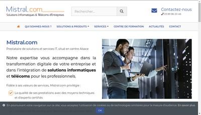 Site internet de Mistral Com