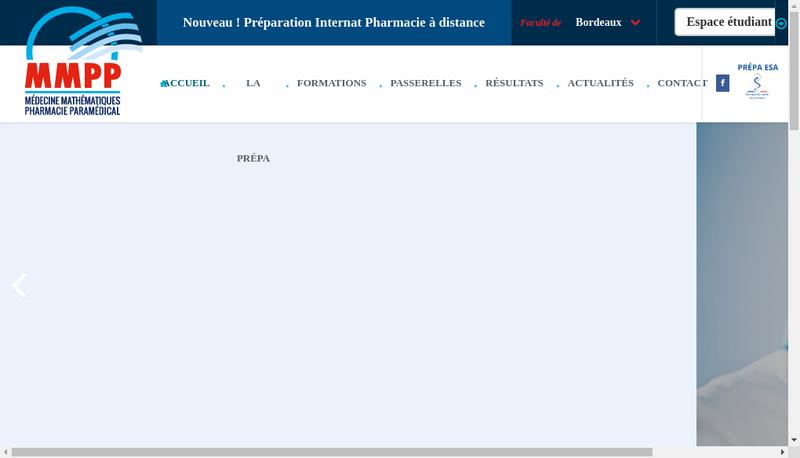 Capture d'écran du site de MMPP