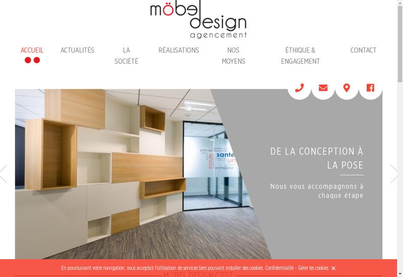 Capture d'écran du site de SARL M Bel Design Agencement
