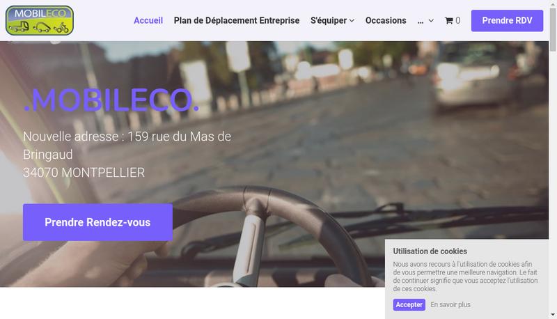 Capture d'écran du site de Mobileco