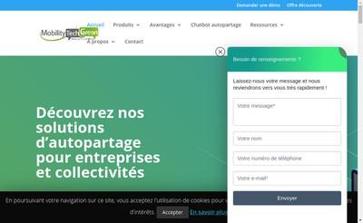 Site internet de Mobility Tech Green