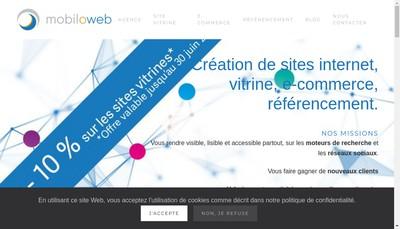 Site internet de Mobiloweb