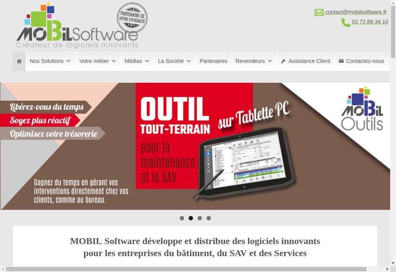 Capture d'écran du site de Mobil Software