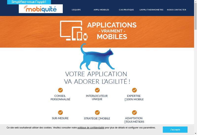 Capture d'écran du site de Mobiquite