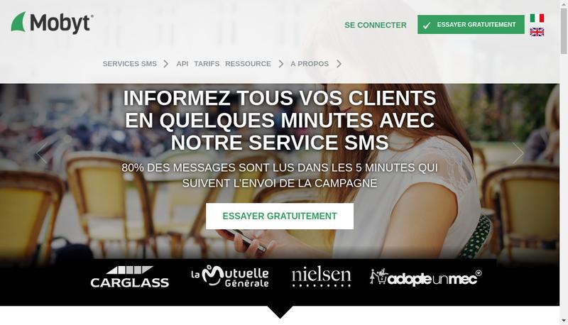 Capture d'écran du site de Mobyt France