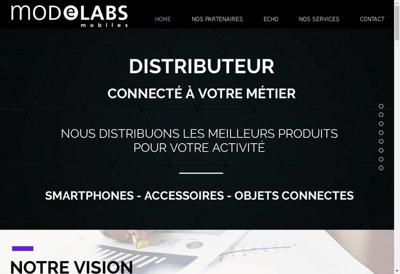 Capture d'écran du site de Modelabs Mobiles