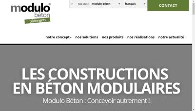 Capture d'écran du site de Modulo Beton