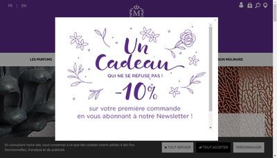 Site internet de Parfumerie Molinard