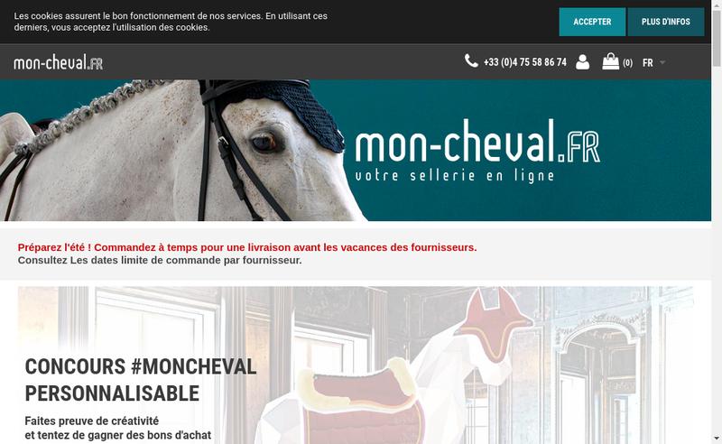 Capture d'écran du site de Mon Cheval