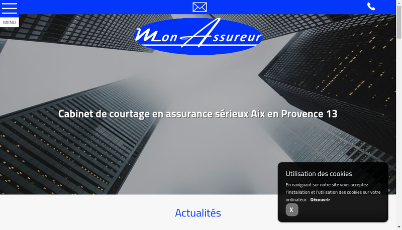 Capture d'écran du site de Mon Assureur