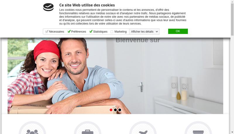 Capture d'écran du site de SATL