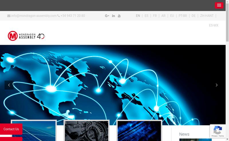 Capture d'écran du site de Mondragon Assembly