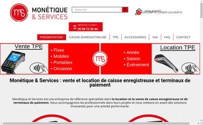 Site internet de Monetique et Services