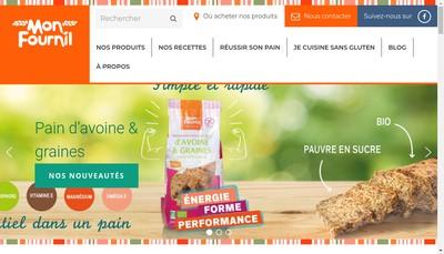 Site internet de Mon Fournil