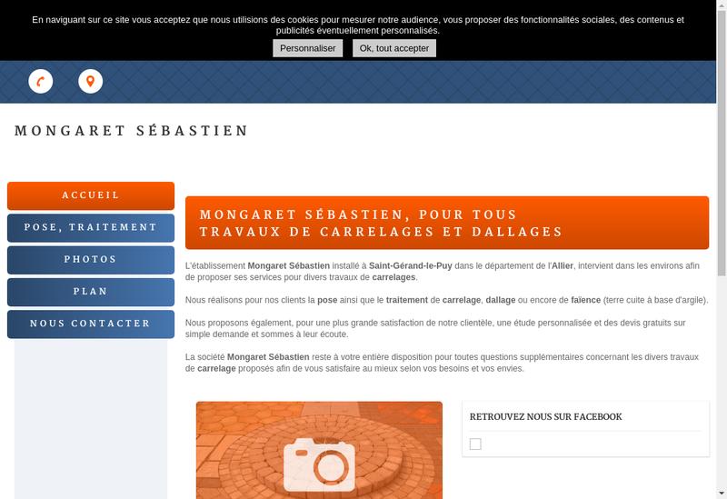 Capture d'écran du site de Mongaret