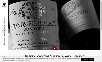Site internet de SA Domaine Mongeard-Mugneret