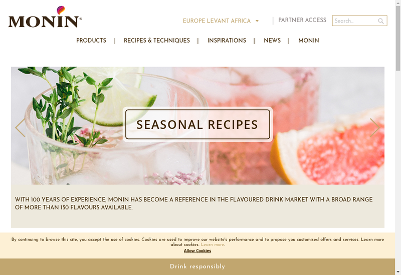 Capture d'écran du site de Georges Monin SAS