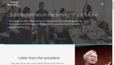 Capture d'écran du site de Bergerat Monnoyeur Services