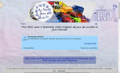 Site internet de Mon Petit Jean
