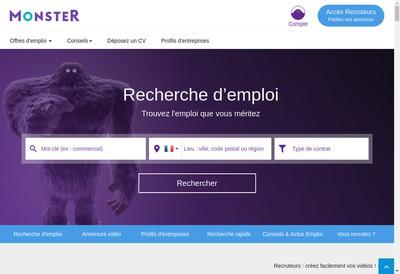 Site internet de Monster Worldwide