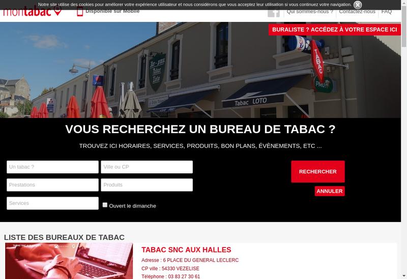 Capture d'écran du site de Le Brazza