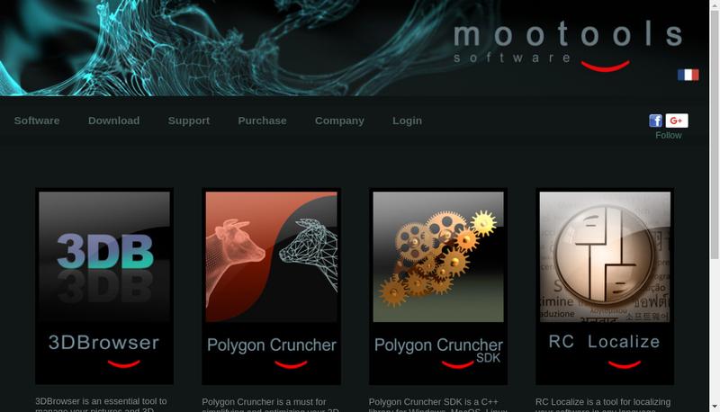 Capture d'écran du site de Mootools