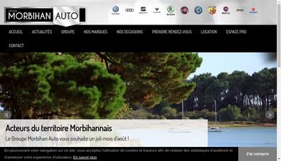 Site internet de Vannes Auto Ouest, Groupe Morbihan Auto Vannes Auto Ouest