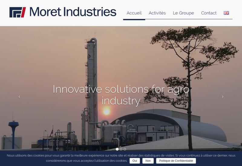 Capture d'écran du site de Moret Industries Participations