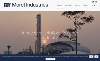 Site internet de Moret Industries Participations