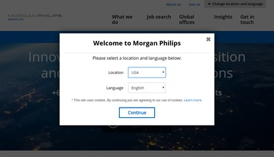 Site internet de Morgan Philips Middle East & Africa