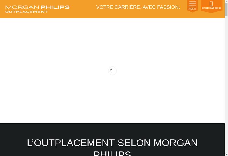 Capture d'écran du site de Morgan Philips Outplacement