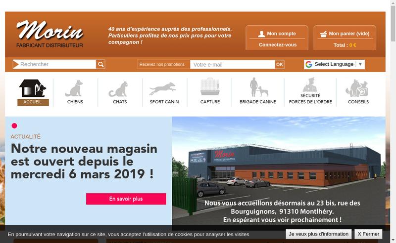 Capture d'écran du site de Etablissements Morin