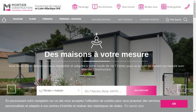 Site internet de Mortier Construction