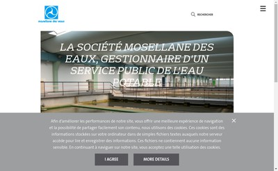 Site internet de Societe Mosellane des Eaux
