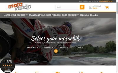 Site internet de Moto Vision