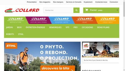 Site internet de Collard et Fils SA