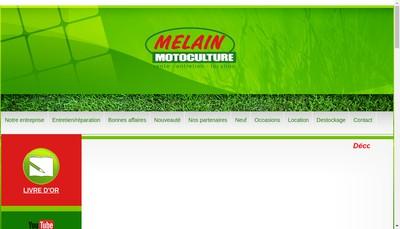 Site internet de Melain Motoculture