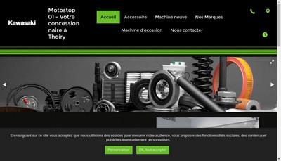 Site internet de Motostop 01