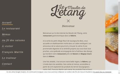 Site internet de Le Moulin de l'Etang