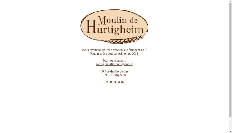 Capture d'écran du site de Moulin de Hurtigheim R Becker et Fils